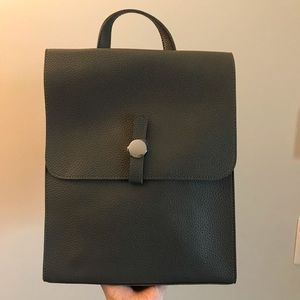 Handbags - Gray leather Backpack
